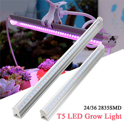 30/45cm T5 LED Grow Light Bar Strip Hydroponic Indoor Veg Flower Plant Lamp Kit