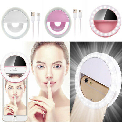 Selfie Portable LED Ring Fill Light Universal Phone Camera Photography Chargable