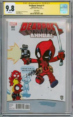 Deadpool Annual #1 Baby Variant Cgc 9.8 Signature Series Signed Skottie Young