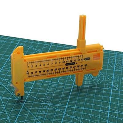 Plastic Compass Circle Cutter Diameter 1cm - 30cm with 6 Spare Blades + 3 Leads