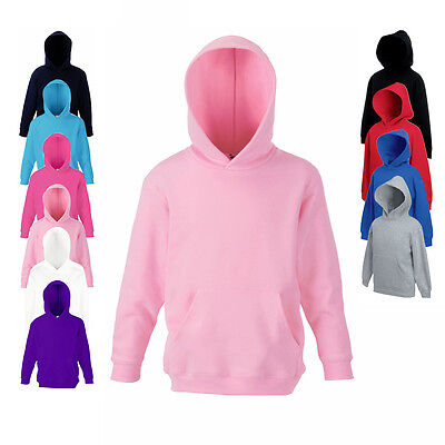 Fruit of the Loom Kinder Kapuzen Pullover Hoodie 116 128 140 152 164 Neu F421NK