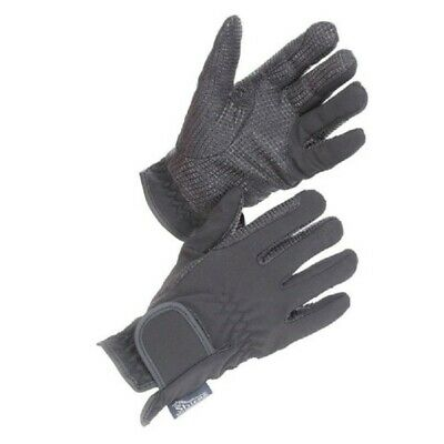 Adults All Weather Horse Riding Gloves Black - Medium - Water Resistant - Shires