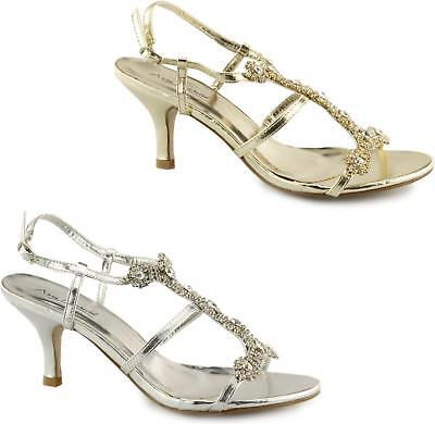 08d2712c4521 Anne Michelle L3340 Womens Ladies Adjustable Buckle Jewelled Strappy High  Heels