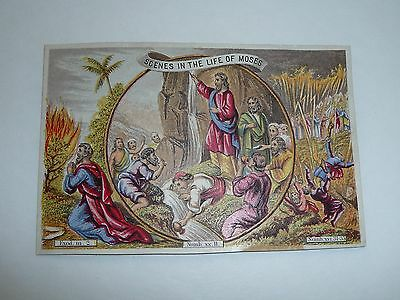 Antique Victorian Trade Card Picture Card Scenes In The Life of Moses Nice Color