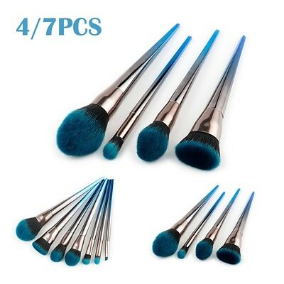 7PCS Diamond Cosmetic Powder Eyeshadow Makeup Brush Set Eyeliner Foundation Tool