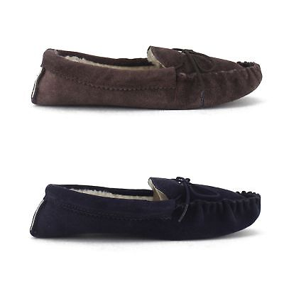 Mokkers JAKE Mens English Made Faux Fur Lined Moccasin Stitch Slippers (No Sole)