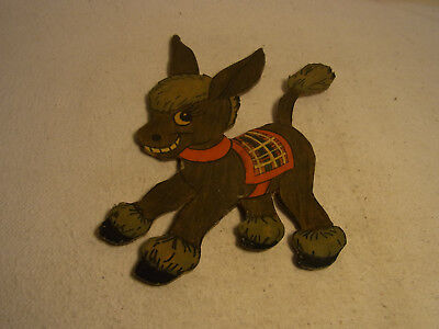 Vintage German Wood Fretwork Donkey #T7