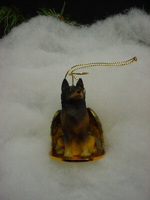 BELGIAN TERVUREN Dog ANGEL Ornament resin Figurine Christmas COLLECTIBLE puppy