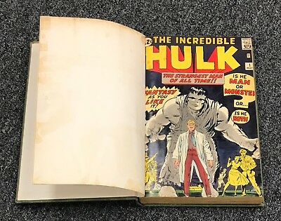 THE INCREDIBLE HULK #1 - 6 + More Bound Vintage Marvel Comics SUPER RARE !!