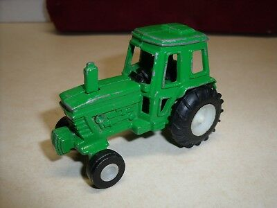 Green Diecast metal toy farm tractor