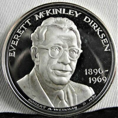 1896-1969 PROOF Everett Dirkson Commemorative .999 Silver Coin AD269