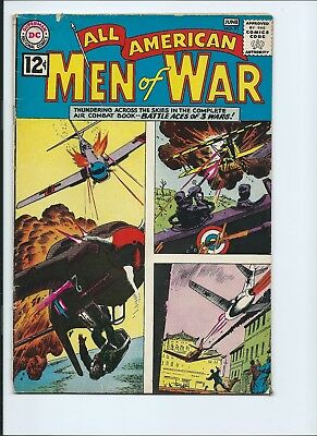 All American Men Of War 91 - Vg- 3.5 - Battle Aces Of 3 Wars (1962)