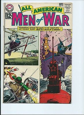 All American Men Of War 93 - Vg/f 5.0 - Battle Aces Of 3 Wars (1962)