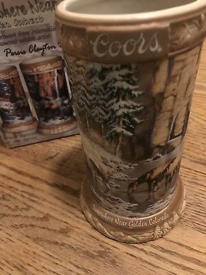 COORS 2005 Beer Stein Somewhere Near Golden Colorado Mug 3rd In Series Horses
