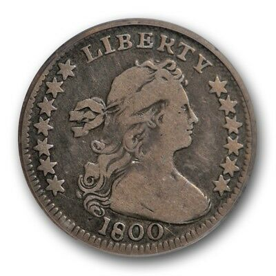 1800 H10C LIBEKTY LM-3 Draped Bust Half Dime PCGS F 15 CAC Approved