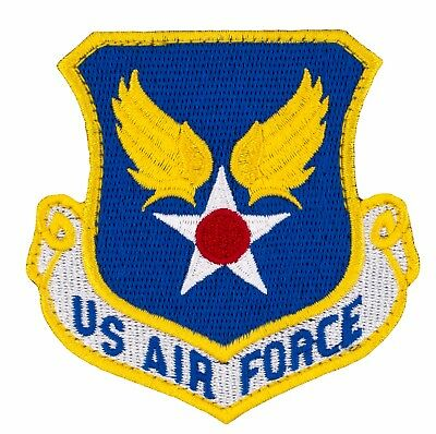 """US Air Force Shield Patch w/ Hook (731) 2 3/4"""" x 2 3/4"""" Embroidered Patch 38496"""