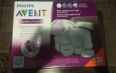 Philips Avent Comfort Double Electric Breast Pump Milk Bottle Scf334/12