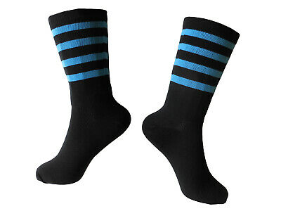 """Socks Cycling Unisex 8"""" Breathable Rongwei Sports 41-47 Hoops Blue"""