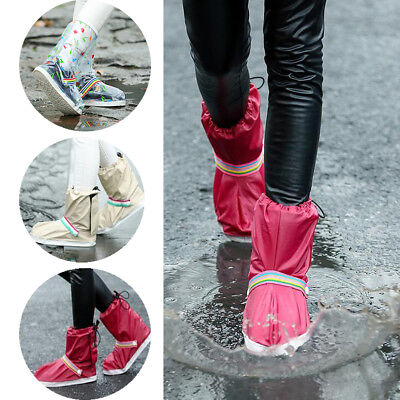 Waterproof Motorcycle Bike Rain Boot Shoes Cover Overshoes For Cycling Hiking CO