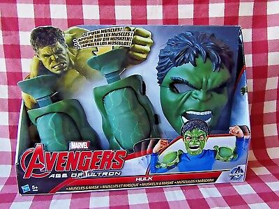 Marvel Avengers Age Of Ultron Hulk Muscles and Mask Brand New In Box