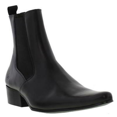 Ikon Revolver Mens Black Leather Chelsea Boots Size UK 7-11