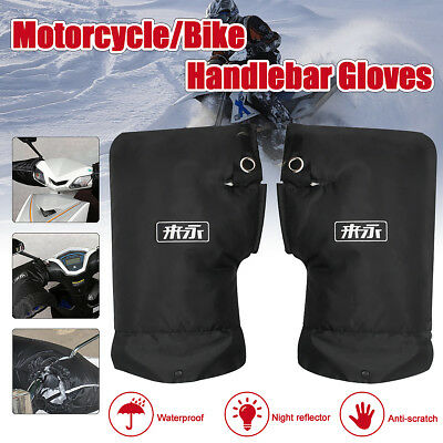Waterproof Windproof Motorcycle Scooter Handlebar Muffs Gloves Thermal Warmer
