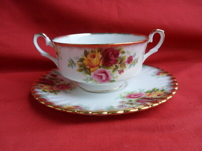 Royal Stafford, BOUQUET, 1 x Soup Coupe (Bowl) & Stand