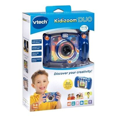 VTech KIDIZOOM DUO Childrens Kids/Boys Digital Camera (Blue) BRAND NEW