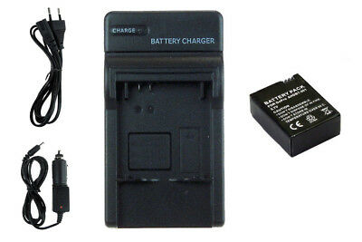 Chargeur+Batterie AHDBT-301 pour GoPro Hero3 Black, White & Silver Ed. - 1050mAh