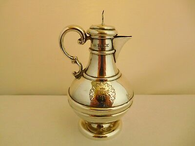 Nice Early Victorian Solid Sterling Silver Communion Ewer / Jug - 1844