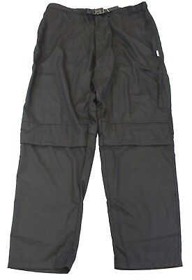 KNG Men's Vented Active Chef Pants Black AB4 Large NWT