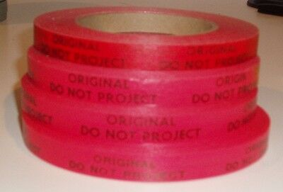 """4 Rolls of Red """" Original Do Not Project Tape"""""""