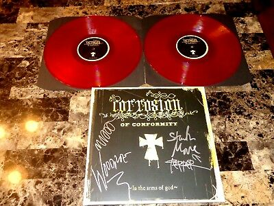 Corrosion of Conformity Rare Signed In The Arms Of God Vinyl LP Record Metal COA