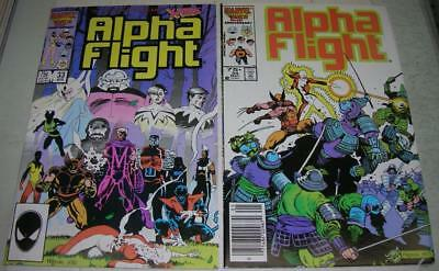 ALPHA FLIGHT 33 & 34 (Marvel Comics 1986) 1st & 2nd app LADY DEATHSTRIKE (VF-)