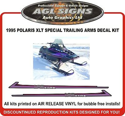 1995 Polaris Indy Xlt Special Trailing Arm Decal Kit, Reproductions