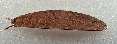 """Vintage Hair Barrette Etched Copper Plated Steel 4"""" Hair Accessorie"""