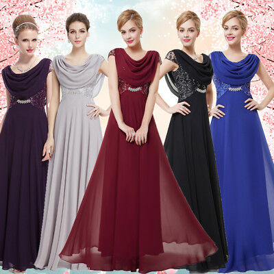 Ever-Pretty Long chiffon Bridesmaid Formal Ball Party Cocktail Dresses 09989
