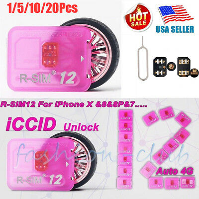 Lot 2018 R-SIM12 Nano Unlock rsim Unlocked Card fits iPhone X/8/7/6/6S LTE ios11