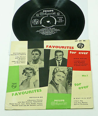 """ROSEMARY CLOONEY / DORIS DAY ++ """"Favourites For Ever"""" NL Philips 7"""" VA PS EP M-"""