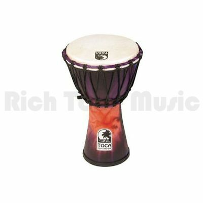 Toca SFDJ-7WP 7 Inch Synergy Freestyle Djembe - Rope Tuned - Woodstock Purple