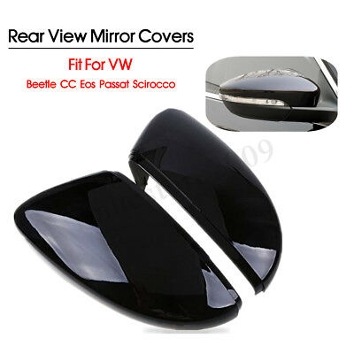 Rear View Wing Mirror Covers Caps For VW Beetle CC Eos Passat Jetta Scirocco