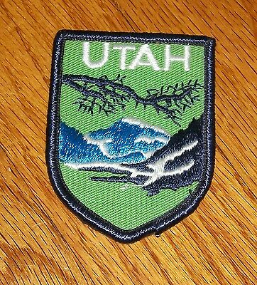 VINTAGE 80s UTAH STATE PATCH EMBROIDERED ORIGINAL OWNERS MINT