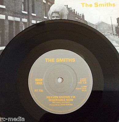"""The Smiths -Heaven Knows I'm Miserable Now- Rare UK Solid centre 7""""/Vinyl Record"""
