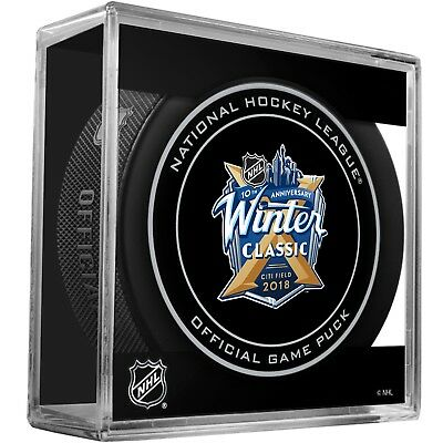 2018 NHL Winter Classic Hockey Collectors Puck In Case New York Rangers  Buffalo 6feda4a8d