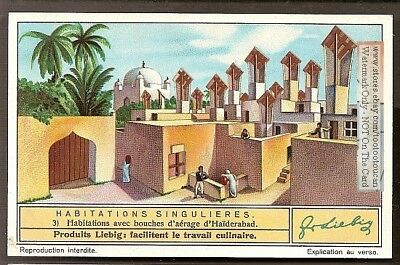 Houses with Air Ventilation Holes India Architecture 1930s Trade Ad Card
