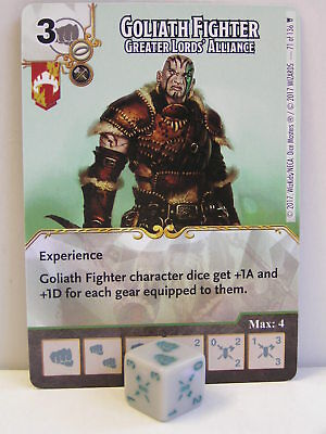 Dice Masters - 1x #071 Goliath Fighter Greater Lords Alliance - D&D Tomb of Anni