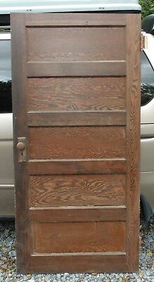 Antique Vintage 5 Panel Wood Door Local Pickup Only 17236