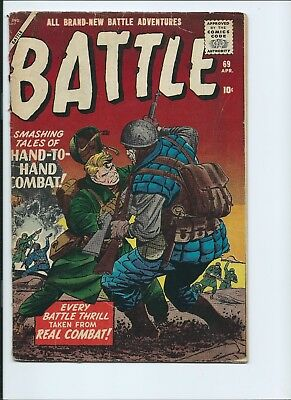 Battle 69 - Vg- 3.5 - Kirby Artwork - 2Nd To Last Issue In Series (1960)