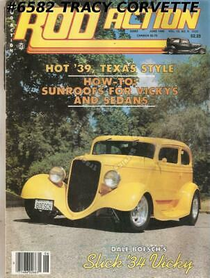 June 1986 Rod Action 1934 Ford Victoria & Phaeton 39 Ford 48 Chevy Coupe 32 Ford