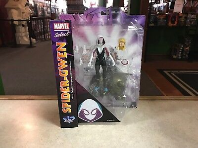 """2017 Diamond Marvel Select SPIDER-GWEN 7"""" Inch Action Figure MOC"""